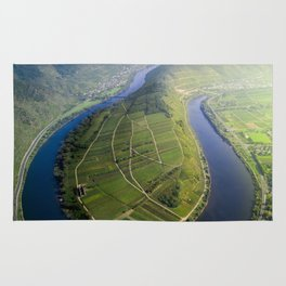 Incredible Mosel River Bend in Germany Rug