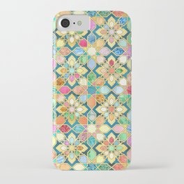 Gilded Moroccan Mosaic Tiles iPhone Case