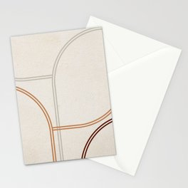 Mid Century Line Art II Stationery Cards