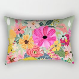 No rain, no flowers Rectangular Pillow