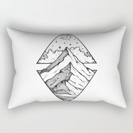 The mountain and the stars Rectangular Pillow