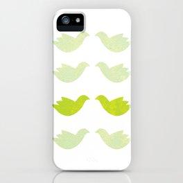 green love birds iPhone Case
