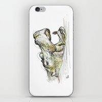 hippo iPhone & iPod Skins featuring Hippo by Ursula Rodgers