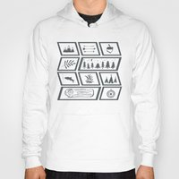 camping Hoodies featuring Camping by Corina Rivera Designs