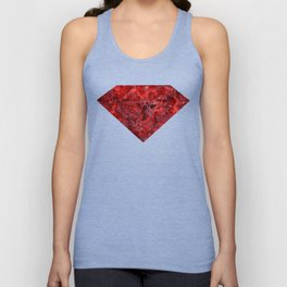 Marble Ruby Blood Red Agate Unisex Tank Top