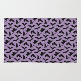 Bat Pattern - Purple Rug