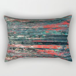 Red Splinters Rectangular Pillow