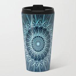Blue Floral Mandala n.1 Travel Mug