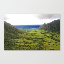 Jurassic Trenches  Canvas Print