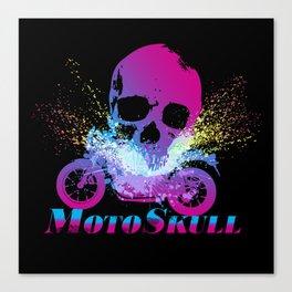MotoSkull 04 Canvas Print