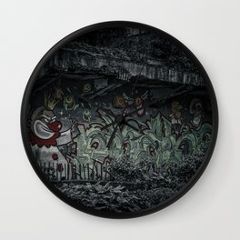 Angry Clown Wall Clock