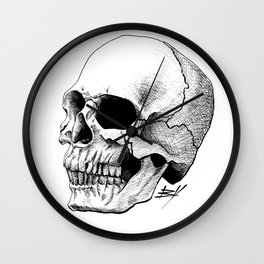 Dire Skull - A Macabre Warning Wall Clock