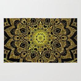 Golden Mandala Rug