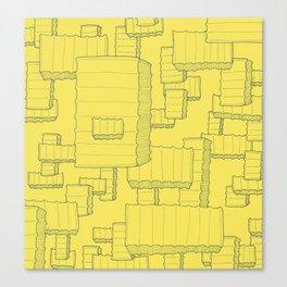 Fry Pattern - maize Canvas Print