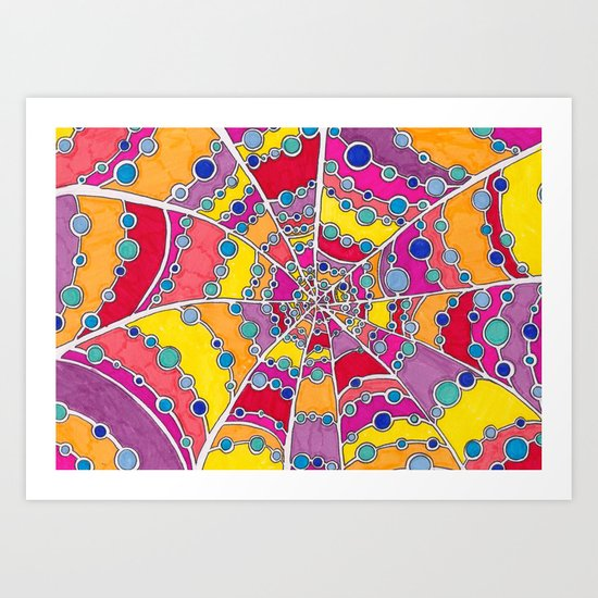 Waterdrop Web Art Print