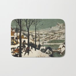 Pieter Bruegel The Elder - Hunters In The Snow, Winter Bath Mat
