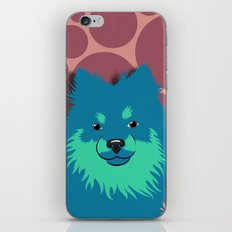 Olie the Pomeranian in Blue iPhone & iPod Skin