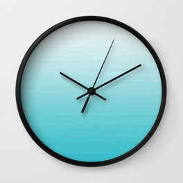 White to Robins Egg Blue Painted appearance gradient ombre Wall Clock
