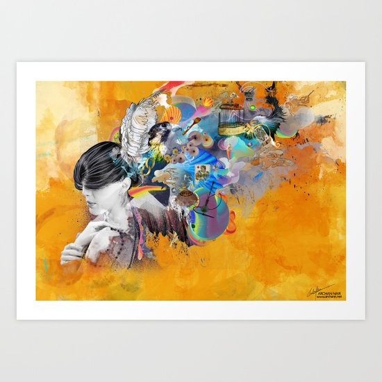 Floating Mind Art Print