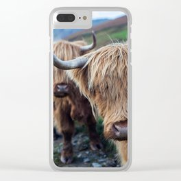 On the hills Clear iPhone Case