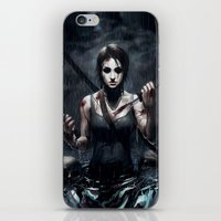 tomb raider iPhone & iPod Skins featuring Tomb Raider by Max Grecke