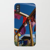 fabric iPhone & iPod Cases featuring Fabric by Michelle Chavez