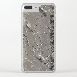 Silver Steel Abstract Metal Background Clear iPhone Case