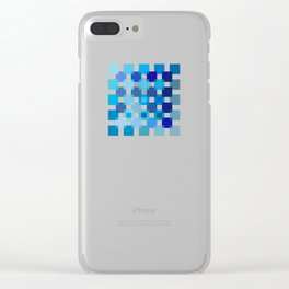 50 / 114 Squares of BLUE - Living Hell Clear iPhone Case
