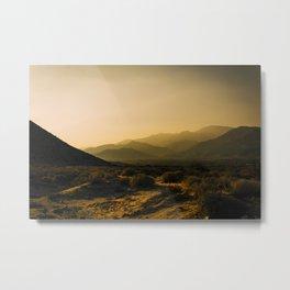 The Fading Light of Gorgonio Pass Metal Print