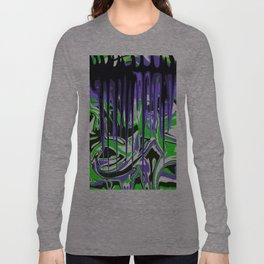Abstract in Green, Black, White, Blues, Purple Long Sleeve T-shirt