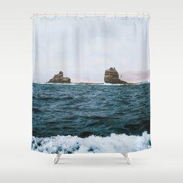Islands between Lanzarote and Isla Graciosa, Spain Shower Curtain
