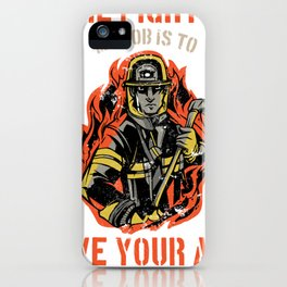 Firefighter Fire Chief Assistant Volunteer Firefighter Gift iPhone Case