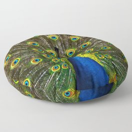 Colorful peacock Floor Pillow