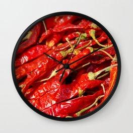 Red Chilies Drying Kathmandu Wall Clock