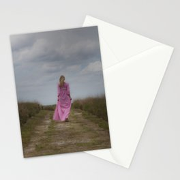 Waking on a rural path Stationery Cards