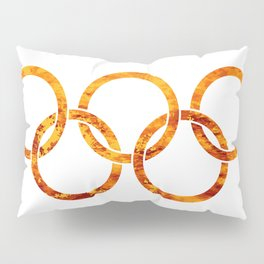 Flaming Olympic Rings Pillow Sham