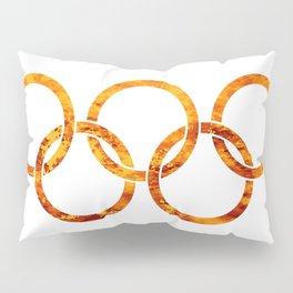 Flaming Olympic Rings Pillow Sham