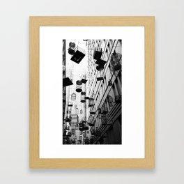 Overheard Framed Art Print