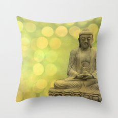Buddha light yellow Throw Pillow