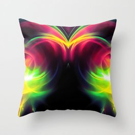 abstract fractals mirrored reacstd Throw Pillow