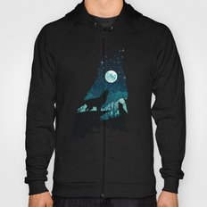 Howling wolf abstraction Hoody