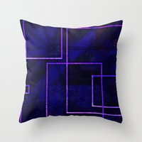 frames Throw Pillows featuring Frames #23 by Rabassa