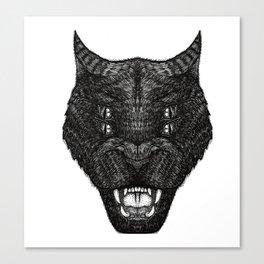 Demon cat Canvas Print