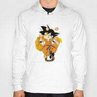 goku Hoodies featuring Goku by Ana del Valle Store