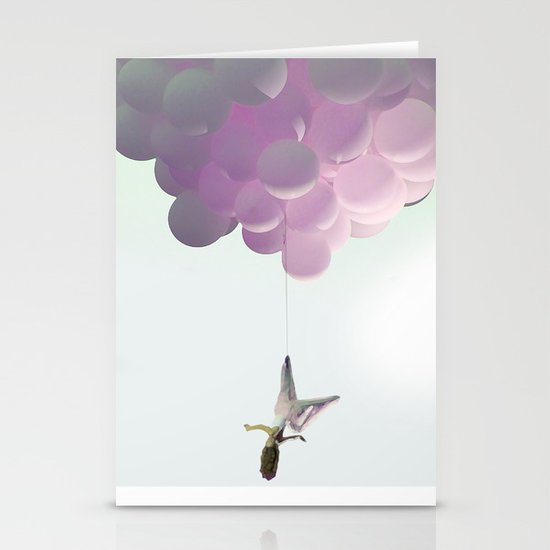 by a thread_ ballon girl Stationery Cards