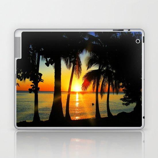 Sunset on Exotic Beach Laptop & iPad Skin