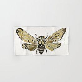 Summer Cicada – Black & Gold Palette Hand & Bath Towel