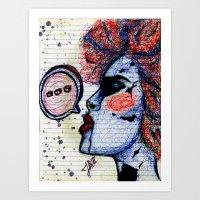 The Speaker Art Print