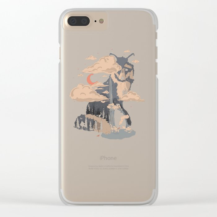 At the Foot of Fox Mountain... Clear iPhone Case