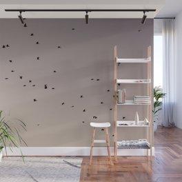 pastel birding Wall Mural